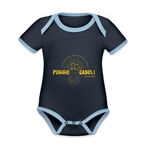 Poggio Casoli_Istituzionale_Giallo - Body da neonato a manica corta, ecologico e in contrasto cromatico
