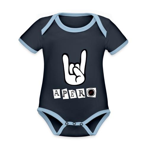 apero t shirt - Body Bébé bio contrasté manches courtes