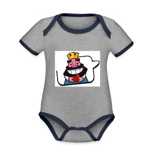 Cartoon - Body da neonato a manica corta, ecologico e in contrasto cromatico