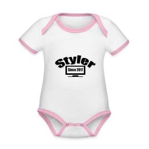Styler Designer Kleding - Baby contrasterend bio-rompertje met korte mouwen