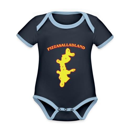 Pizzasalladland - Ekologisk kontrastfärgad kortärmad babybody