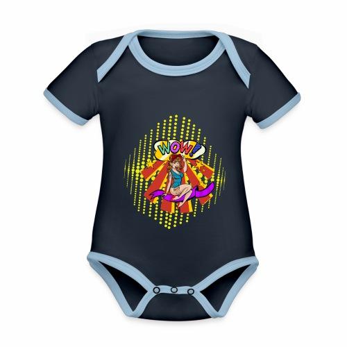 popartcontest - Body contraste para bebé de tejido orgánico