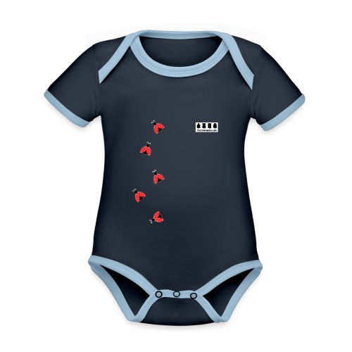 ladybird design tc - Organic Baby Contrasting Bodysuit