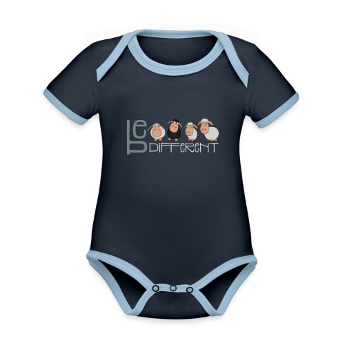 Be different sheep - Funny unique sheep - Organic Baby Contrasting Bodysuit