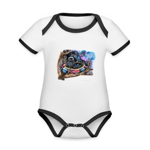 owls - Organic Baby Contrasting Bodysuit