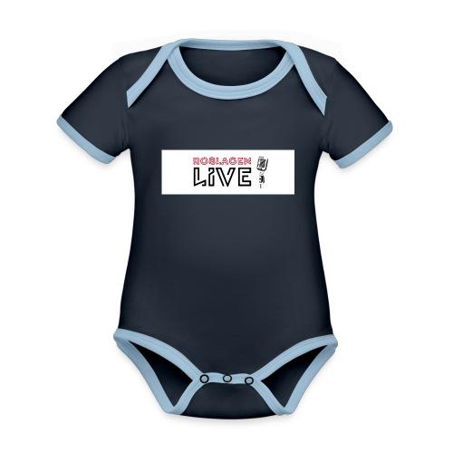 Roslagen Live - Ekologisk kontrastfärgad kortärmad babybody