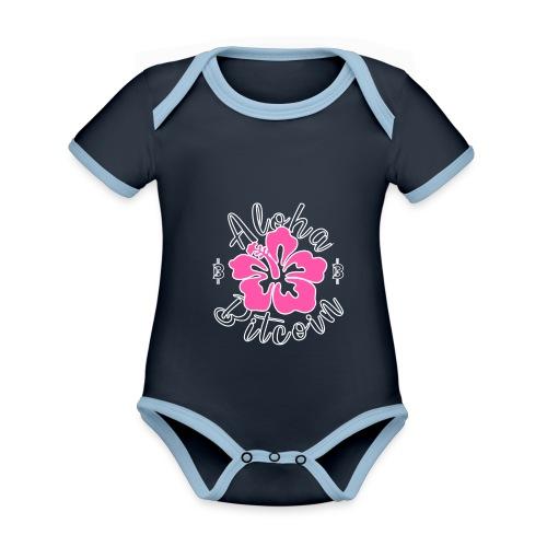 Aloha Bitcoin! - Body contraste para bebé de tejido orgánico