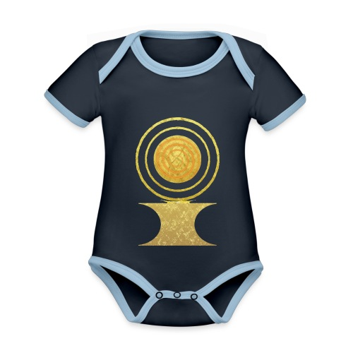 Native America Indianer Symbol Hopi ssl Sonne - Baby Bio-Kurzarm-Kontrastbody