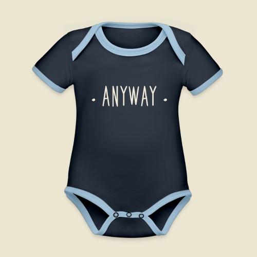Anyway - Body Bébé bio contrasté manches courtes