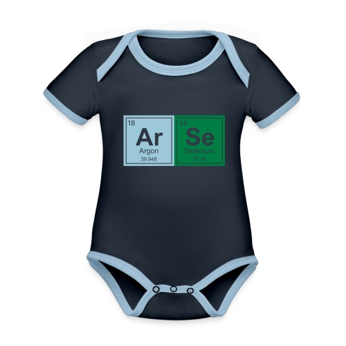 Geeky Arse Periodic Elements - Organic Baby Contrasting Bodysuit