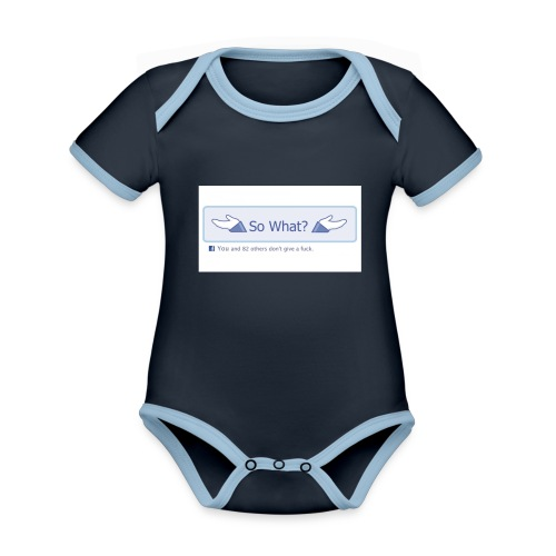 So What? - Organic Baby Contrasting Bodysuit