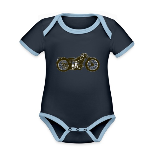 Classic Cafe Racer - Organic Baby Contrasting Bodysuit