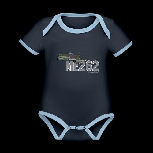 Me 262 Schwalbe (writing) - Body da neonato a manica corta, ecologico e in contrasto cromatico