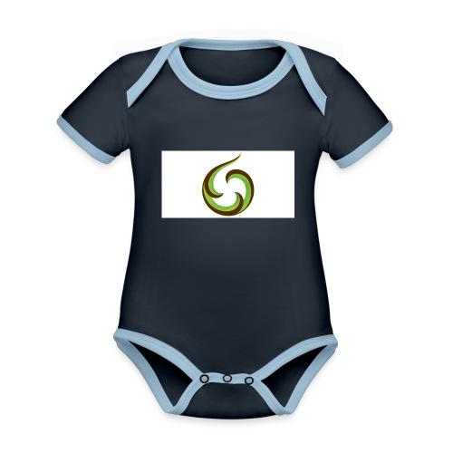 smartphone aroha - Vauvan kontrastivärinen, lyhythihainen luomu-body