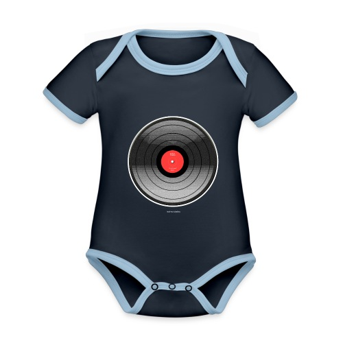 Vinyl Sunrise - Ekologiczne body niemowlęce z krótkim rękawem i kontrastowymi lamówkami