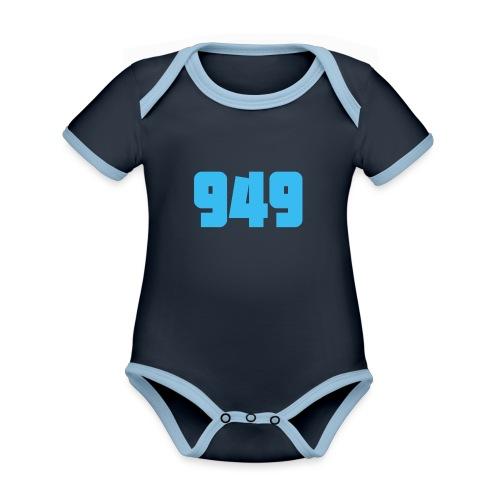 949blue - Baby Bio-Kurzarm-Kontrastbody