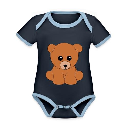 Teddy - Baby Bio-Kurzarm-Kontrastbody