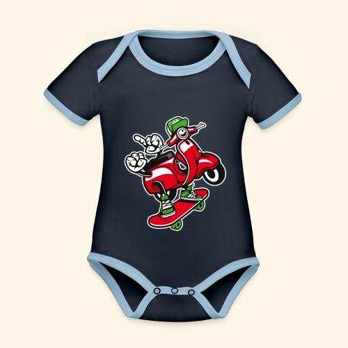 Roller Skater - Baby Bio-Kurzarm-Kontrastbody