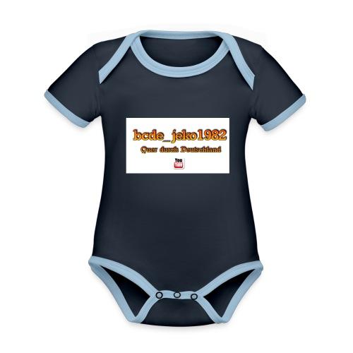 quer durch deutschland - Baby Bio-Kurzarm-Kontrastbody