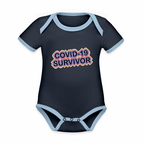 covic19survivor - Kortærmet økologisk babybody i kontrastfarver