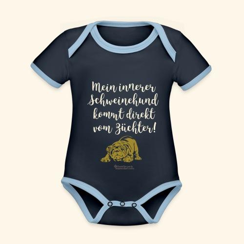 Innerer Schweinehund vom Züchter | Geek T-Shirts - Baby Bio-Kurzarm-Kontrastbody