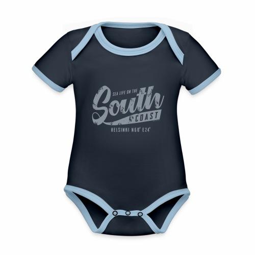 ETELÄRANNIKKO, SOUTH COAST HELSINKI COOL T-SHIRTS - Vauvan kontrastivärinen, lyhythihainen luomu-body