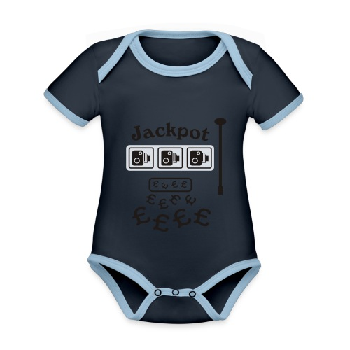 Speed Camera Jackpot - Organic Baby Contrasting Bodysuit