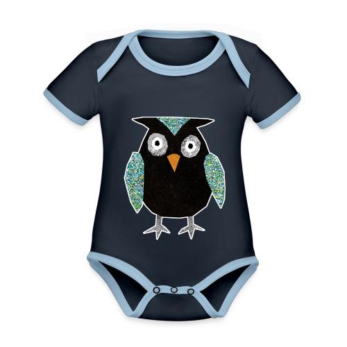 Collage mosaic owl - Organic Baby Contrasting Bodysuit