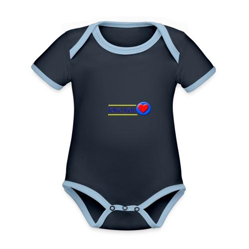 love you - Organic Baby Contrasting Bodysuit
