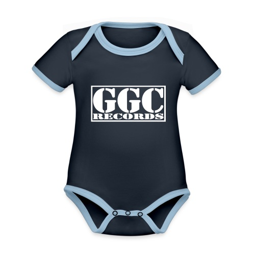 GGC-Records Label-Stempel - Baby Bio-Kurzarm-Kontrastbody