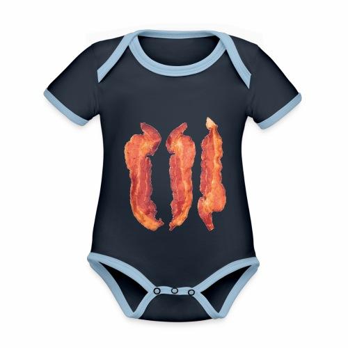 Bacon Strips - Body da neonato a manica corta, ecologico e in contrasto cromatico