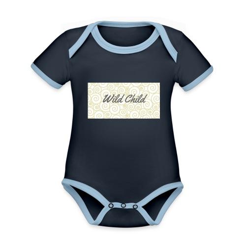 Wild Child 1 - Organic Baby Contrasting Bodysuit