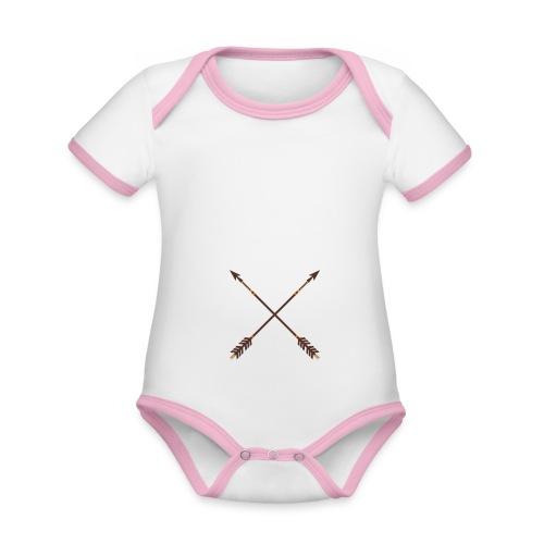 Aim for your Dreams white - Vauvan kontrastivärinen, lyhythihainen luomu-body