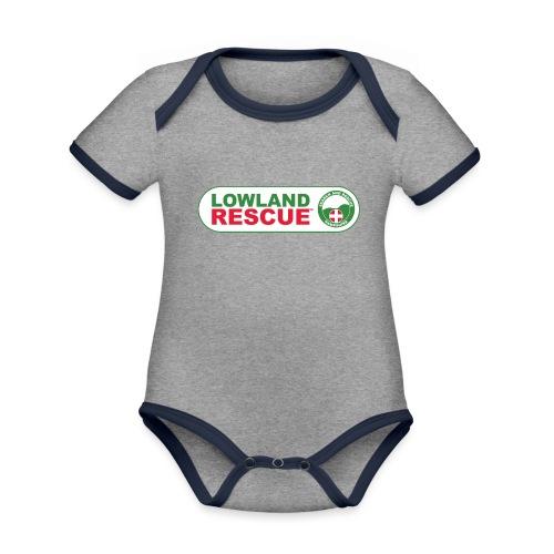 HANTSAR lozenge - Organic Baby Contrasting Bodysuit