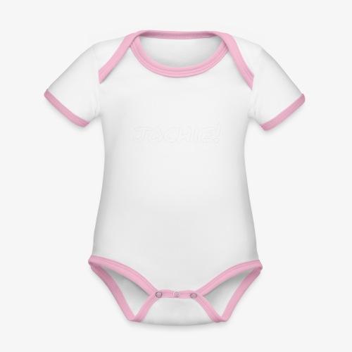 Jochie - Baby contrasterend bio-rompertje met korte mouwen