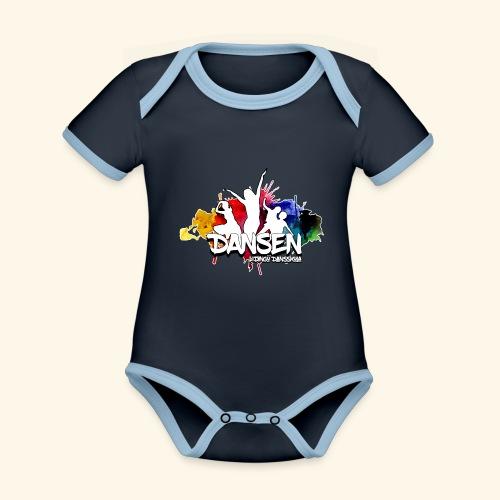Dansen ColorSplash - Ekologisk kontrastfärgad kortärmad babybody