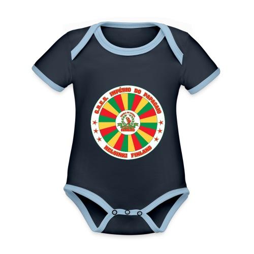 Papagaio drum logo - Vauvan kontrastivärinen, lyhythihainen luomu-body