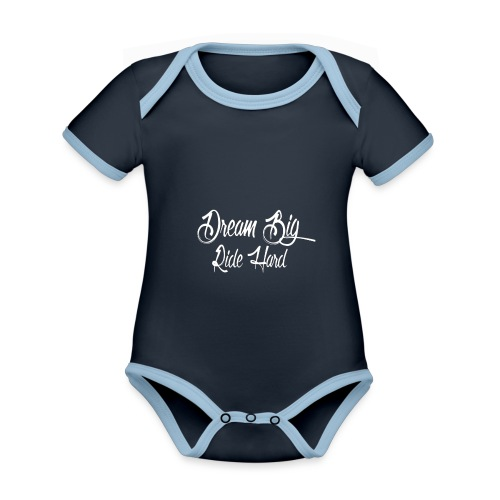 DreamBigRideHard - Body contraste para bebé de tejido orgánico