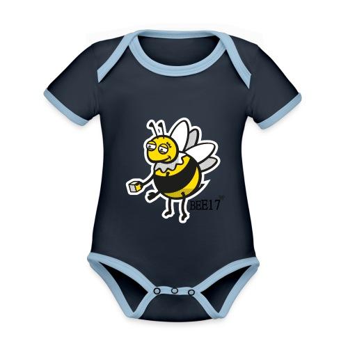 Teeny Tiny East End Bee - Organic Baby Contrasting Bodysuit