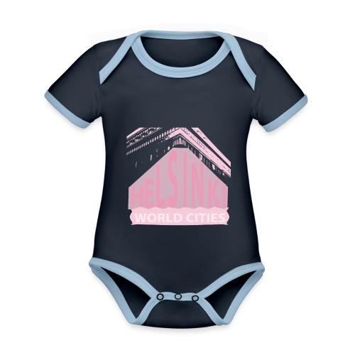 Helsinki light pink - Organic Baby Contrasting Bodysuit