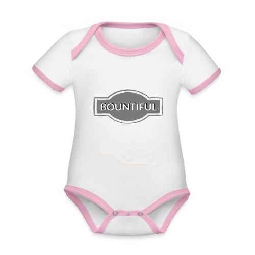 Bontiul gray white - Organic Baby Contrasting Bodysuit