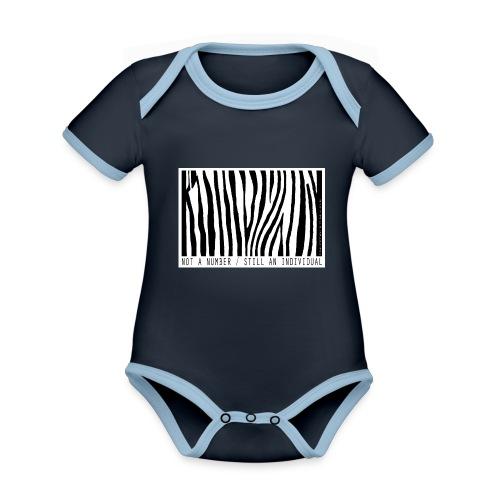 not a number... still an individual - Baby Bio-Kurzarm-Kontrastbody