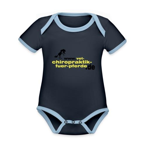 marta - Baby Bio-Kurzarm-Kontrastbody
