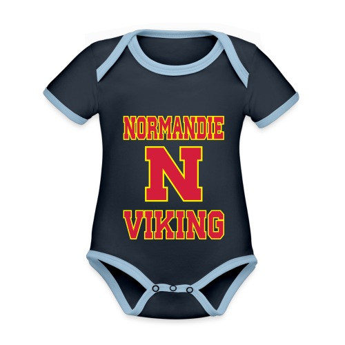Normandie Viking - Body Bébé bio contrasté manches courtes