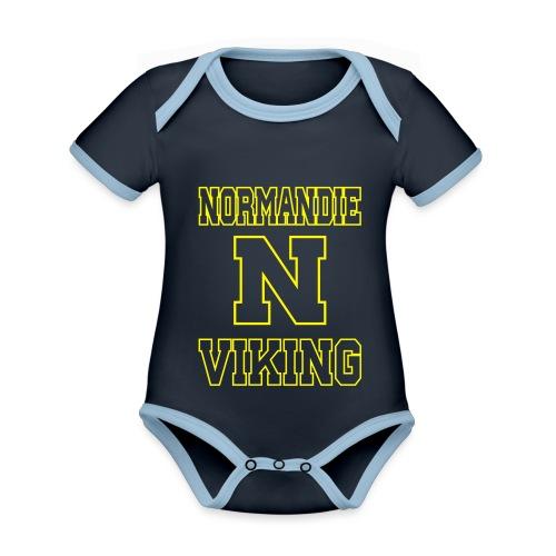 Normandie Viking Def jaune - Body Bébé bio contrasté manches courtes