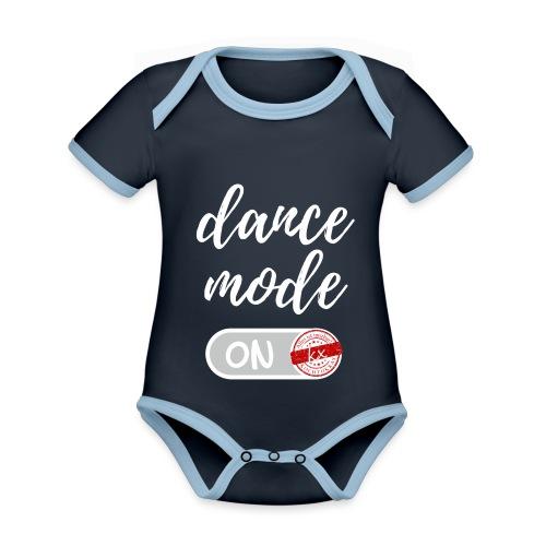 dance mode w - Baby Bio-Kurzarm-Kontrastbody