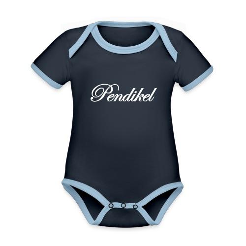Pendikel Schriftzug (offiziell) Buttons & - Baby Bio-Kurzarm-Kontrastbody