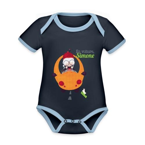 AUTOSIMONE - Body Bébé bio contrasté manches courtes