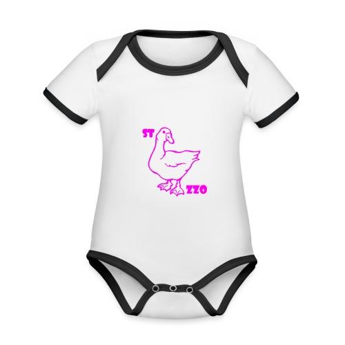 REBUS...STOCAZZO - Body da neonato a manica corta, ecologico e in contrasto cromatico