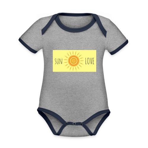 Sun Love - Organic Baby Contrasting Bodysuit